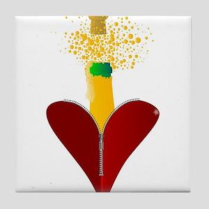 Love Champagne Tile Coaster