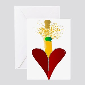 Love Champagne Greeting Cards