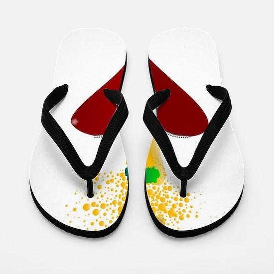 Love Champagne Flip Flops