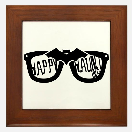 Happy Haunting Framed Tile
