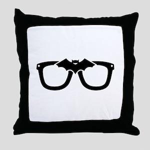 Bat Glasses Throw Pillow
