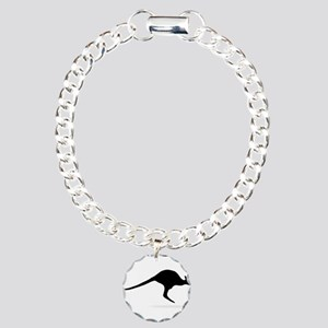 Kangaroo Charm Bracelet, One Charm
