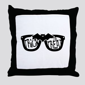 Trick or Treat Glasses Throw Pillow