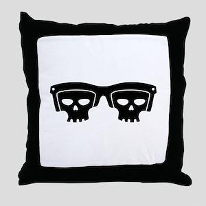 Skull Glasses Throw Pillow