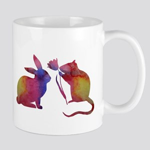 The rat and the rabbit Mugs
