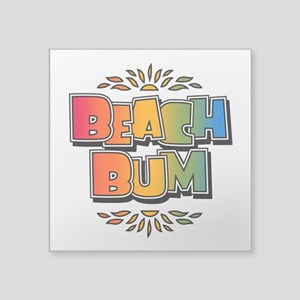 Beach Bum Retro Rainbow Sticker