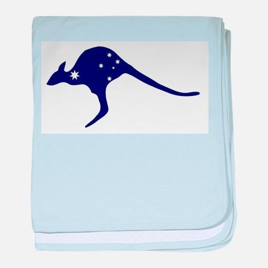 Kangaroo With Flag Stars baby blanket