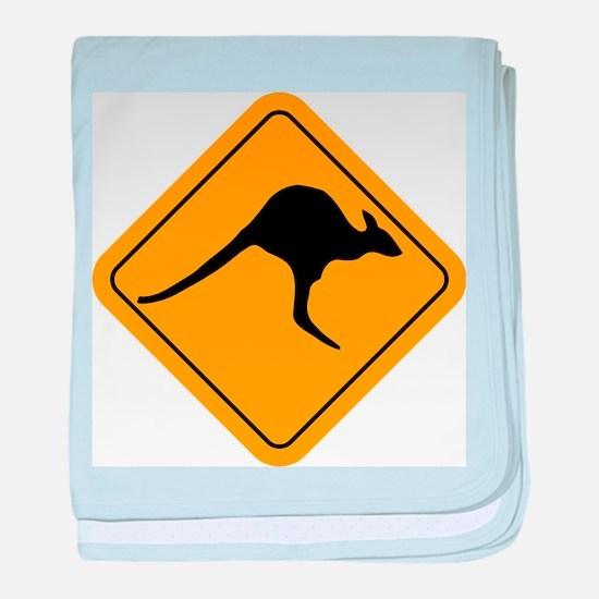 Kangaroo Sign baby blanket