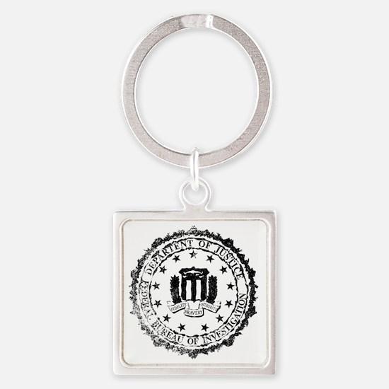 Unique Fbi seal Square Keychain