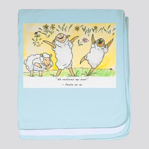 psalm 23: 3a baby blanket