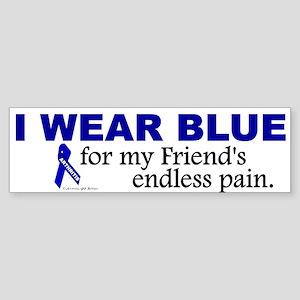 I Wear Blue For My Friend's Pain Bumper Sticker