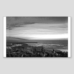 Black & White Sunset Sticker