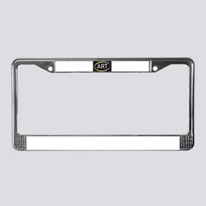Art Blackboard License Plate Frame
