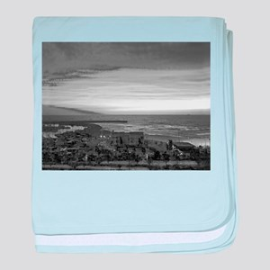 Black & White Sunset baby blanket