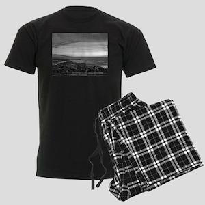 Black & White Sunset Men's Dark Pajamas