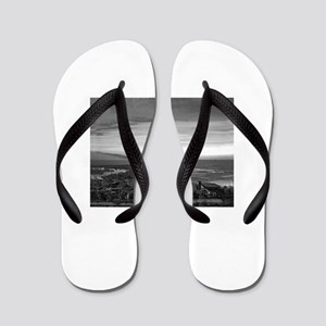 Black & White Sunset Flip Flops