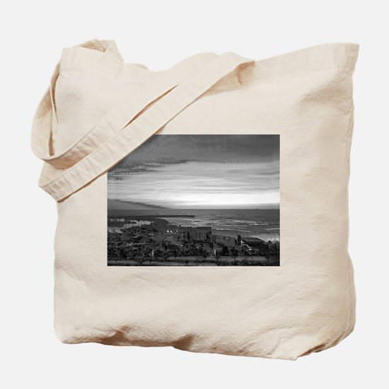 Black & White Sunset Tote Bag