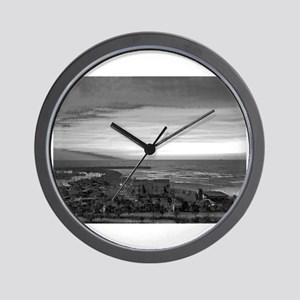 Black & White Sunset Wall Clock