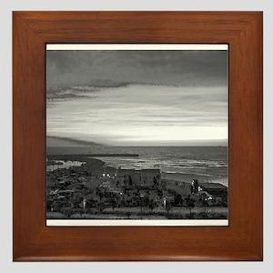Black & White Sunset Framed Tile