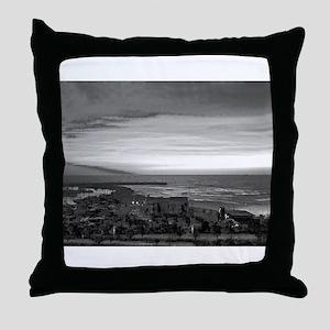 Black & White Sunset Throw Pillow