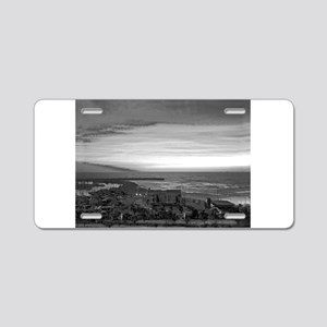 Black & White Sunset Aluminum License Plate
