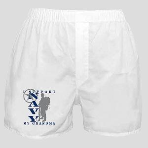 I Support Grandma 2 - NAVY Boxer Shorts
