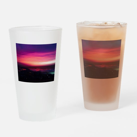 Beautiful Sunset Drinking Glass