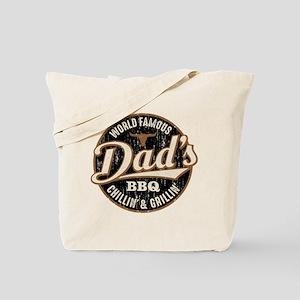 Dads BBQ Vintage Tote Bag