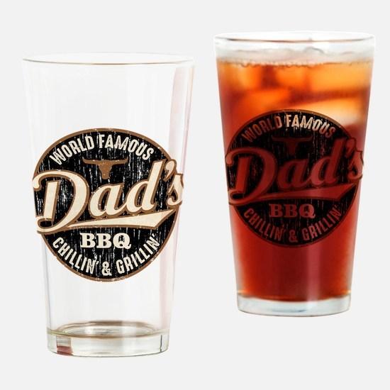 Dads BBQ Vintage Drinking Glass