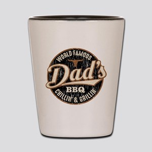 Dads BBQ Vintage Shot Glass