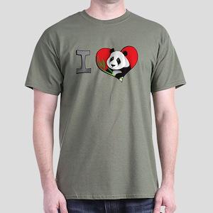 I heart pandas Dark T-Shirt