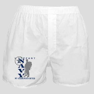 I Support Granddaughter 2 - NAVY Boxer Shorts