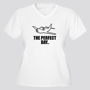 flying airplane Plus Size T-Shirt
