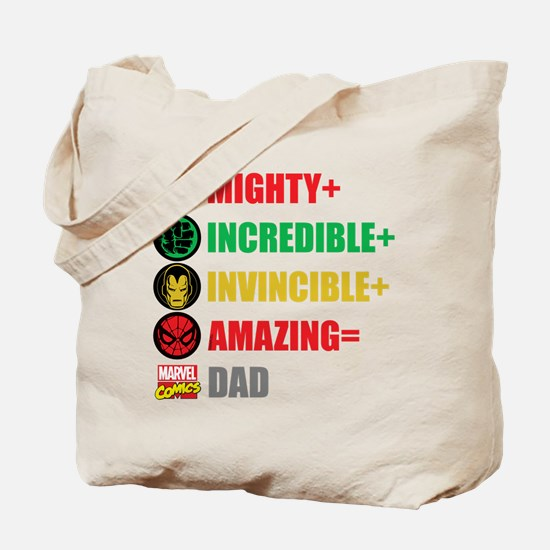Marvel Dad Personalized Tote Bag