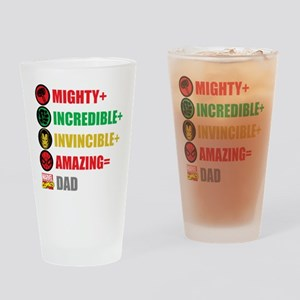 Marvel Dad Personalized Drinking Glass