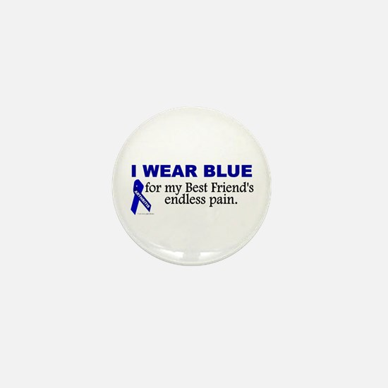 I Wear Blue For My Best Friend's Pain Mini Button