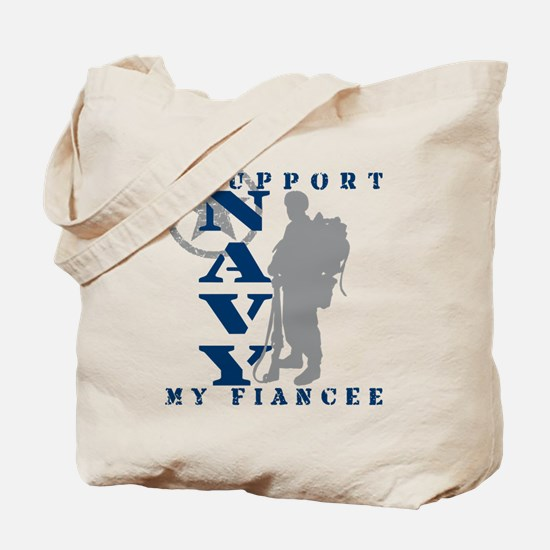 I Support Fiancee 2 - NAVY Tote Bag