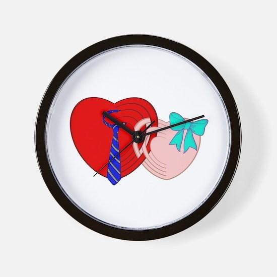 HEARTS COUPLE Wall Clock