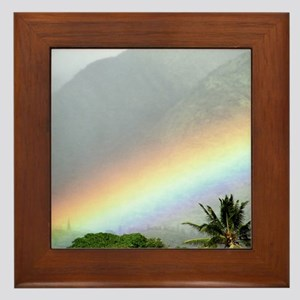 Manoa Valley Rainbow Hawaii Framed Tile
