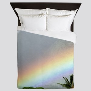 Manoa Valley Rainbow Hawaii Queen Duvet