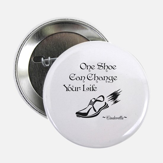 "Cute Running shoe 2.25"" Button"