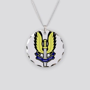 SAS Badge Necklace Circle Charm