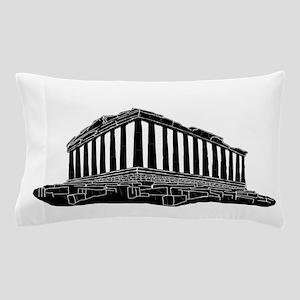 Black silhouette of Parthenon Pillow Case