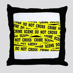 Crime Scene Tape Throw Pillow