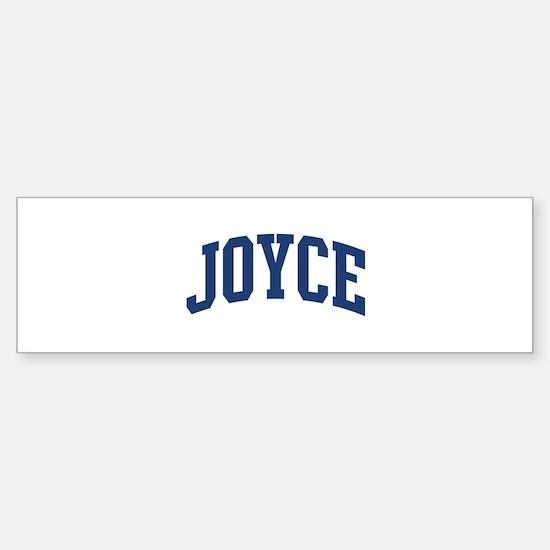 JOYCE design (blue) Bumper Bumper Bumper Sticker