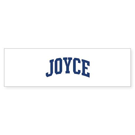 JOYCE design (blue) Bumper Sticker