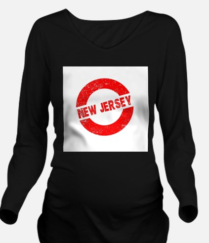 Rubber Ink Stamp New Long Sleeve Maternity T-Shirt