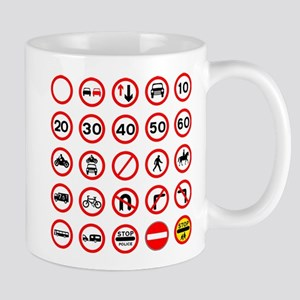 Road Traffic Signs Mugs