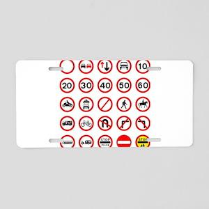 Road Traffic Signs Aluminum License Plate
