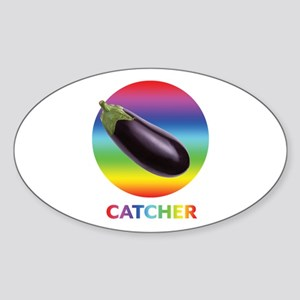 Rainbow Eggplant Catcher Sticker